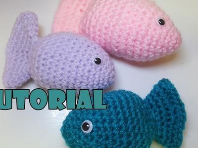 Tutorial pesciolini amigurumi all'uncinetto - tutorial crochet fish - Facilissimi - very easy