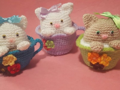 Gattino nella Tazza Amigurumi Tutorial - Cat in the Cup Crochet - Gato Taza