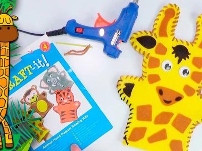 Craft: Marionetta Girafa con gli occhi folli ✂ Speciale bambini | fai da te | DIY