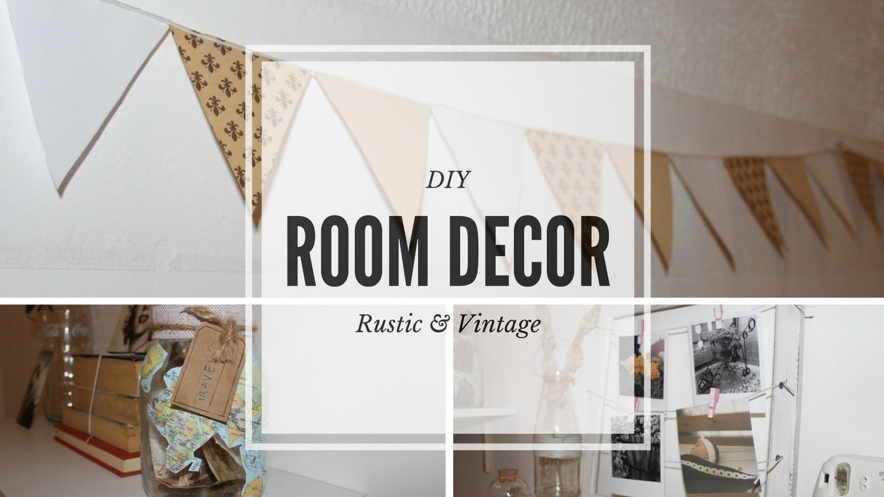 diy room decor rustic vintage. Black Bedroom Furniture Sets. Home Design Ideas