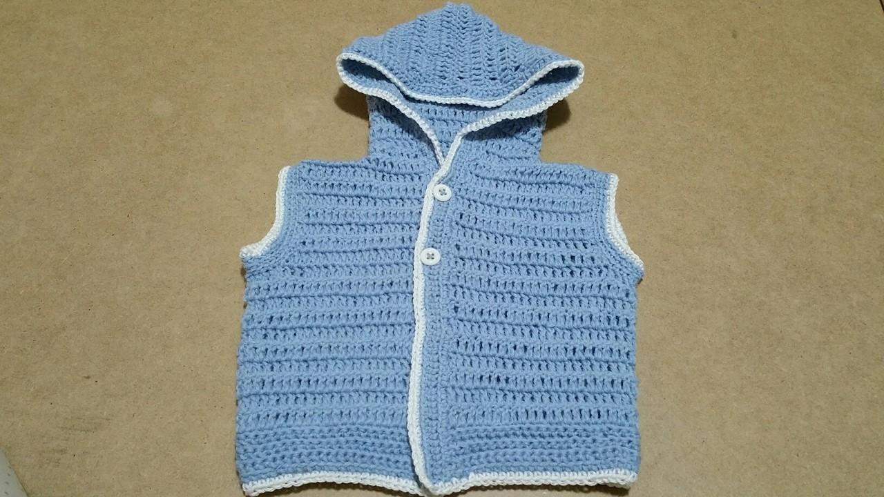 Smanicato neonato uncinetto.gilet baby crochet