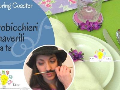 Sottobicchiere primaverile fai da te - DIY Spring Coaster - Tutorial DIY di Creaidee