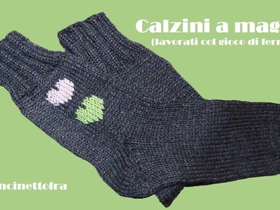 Come fare i calzini a maglia (how to knit socks) parte 1.2