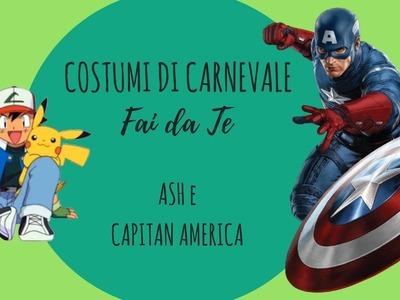 Costumi di Carnevale Fai da te - DIY capitan america e ash