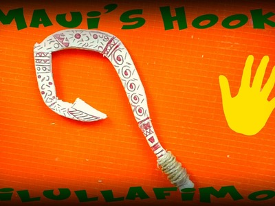 DIY wood miniature MAUI'S HOOK-MOANA-DISNEY MOVIE-Arpione di Maui |ilullaFimo|FINAL SURPRISE