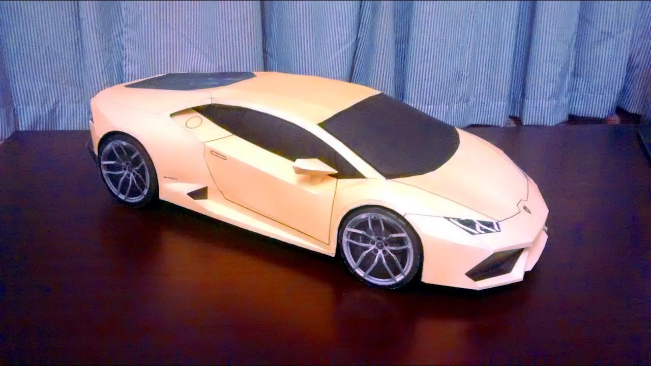 Lamborghini paper model.How to make Lamborghini paper model easily