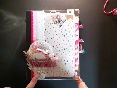 Mini album cute girl crate paper