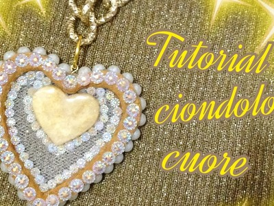 Tutorial ciondolo cuore!!Tutorial pendant heart | Diy |