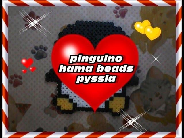 Pinguino hama beads-pyssla