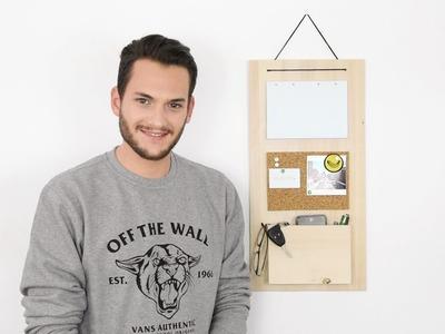 Fai da te: Portatutto da appendere - Pannello organizer per scrivania o ingresso di casa