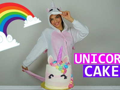RAINBOW UNICORN CAKE TUTORIAL | Torta Arcobaleno