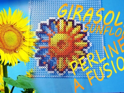 Girasole super colorato - Fuse Bead Sunflower speed art (perline da stirare. a fusione)