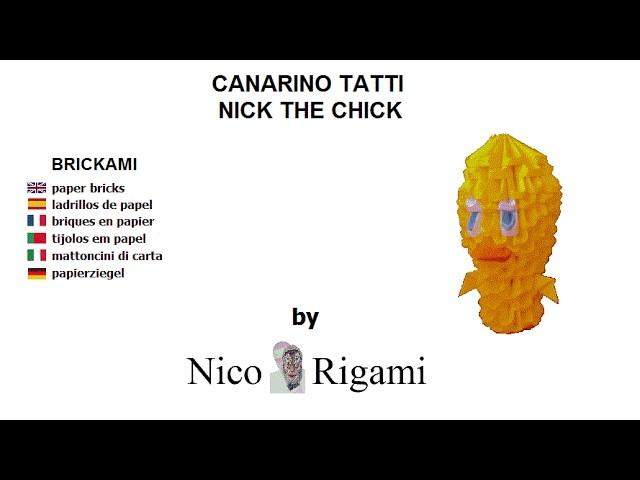 """Tutorial Tatti chick by Nico Rigami no glue """"brickami"""""""