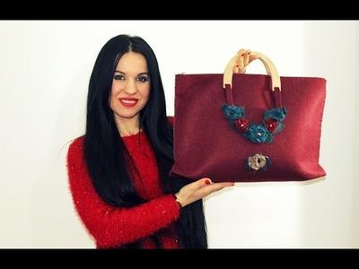 DIY.Tutorial: Come fare una Borsa con la Cerniera.How to make a bag with zipper Handmade
