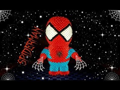 Origami 3D Spiderman tutorial ITA