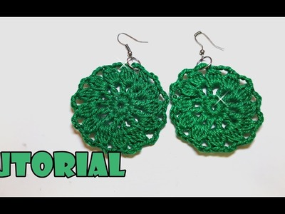 Tutorial ORECCHINI all'uncinetto primaverili facili - spring crochet earrings easy