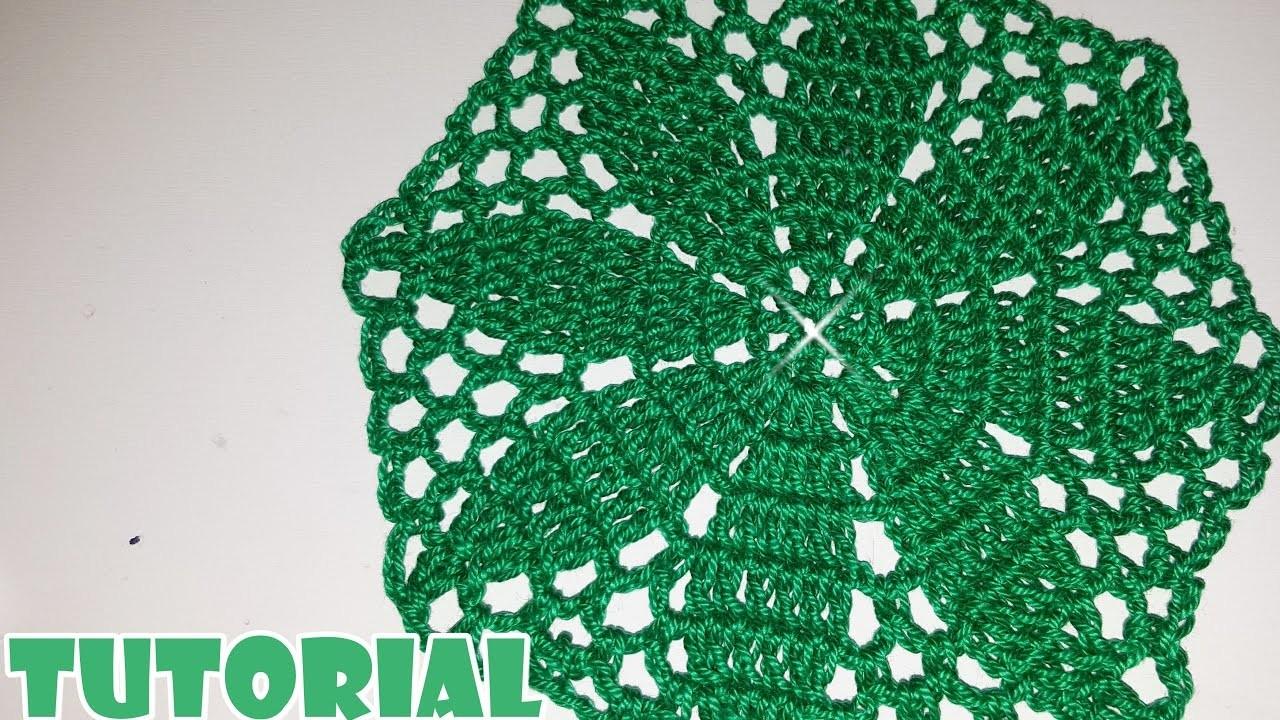 Tutorial Spiegazione Centrino Fiore Verde Alluncinetto Crochet