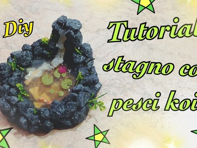 Tutorial stagno con pesci koi | Tutorial polymer clay | Tutorial pond with fish koi | Diy |