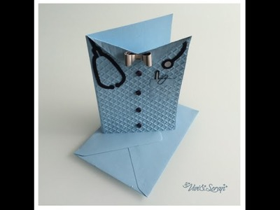 "SCRAPBOOKING: Card ""Doctor shirt"""