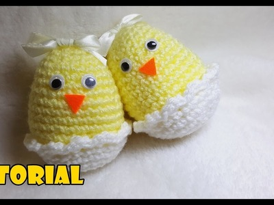 Tutorial di PASQUA - Pulcini nelle uova - Easter tutorial - chicks in eggs. FACILE