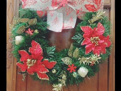 Tutorial ghirlanda di Natale   Tutorial Christmas wreath   Diy   Decorazioni Natalizie   Fai da te  