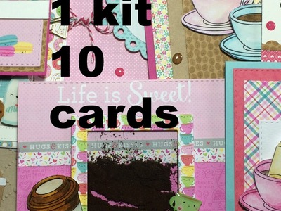 Simon Says Stamp 1 kit 10 cards (febbraio)- Scrapbooking Tutorial | Scrapmary