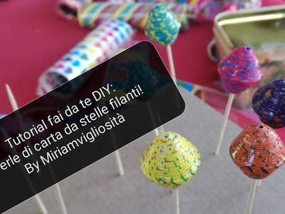 Tutorial fai da te DIY: perle di CARTA recuperando stelle filanti by Miriamvigliosità