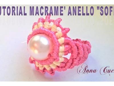 """Tutorial macramè anello """"Sofia"""". Tutorial macramé ring """"Sofia"""".Diy tutorial"""