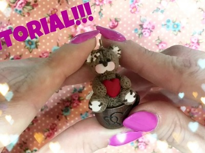Tutorial orsacchiotto Teddy Bear con cuore!!! Polymer clay