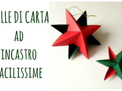 Stelle di Carta ad incastro senza colla ne punti,FACILISSIME!.Paper star (Natale) Arte per Te