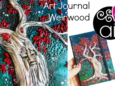 Art Journal Tutorial | Albero del Cuore in Pasta polimerica | Trono di Spade Fan Art