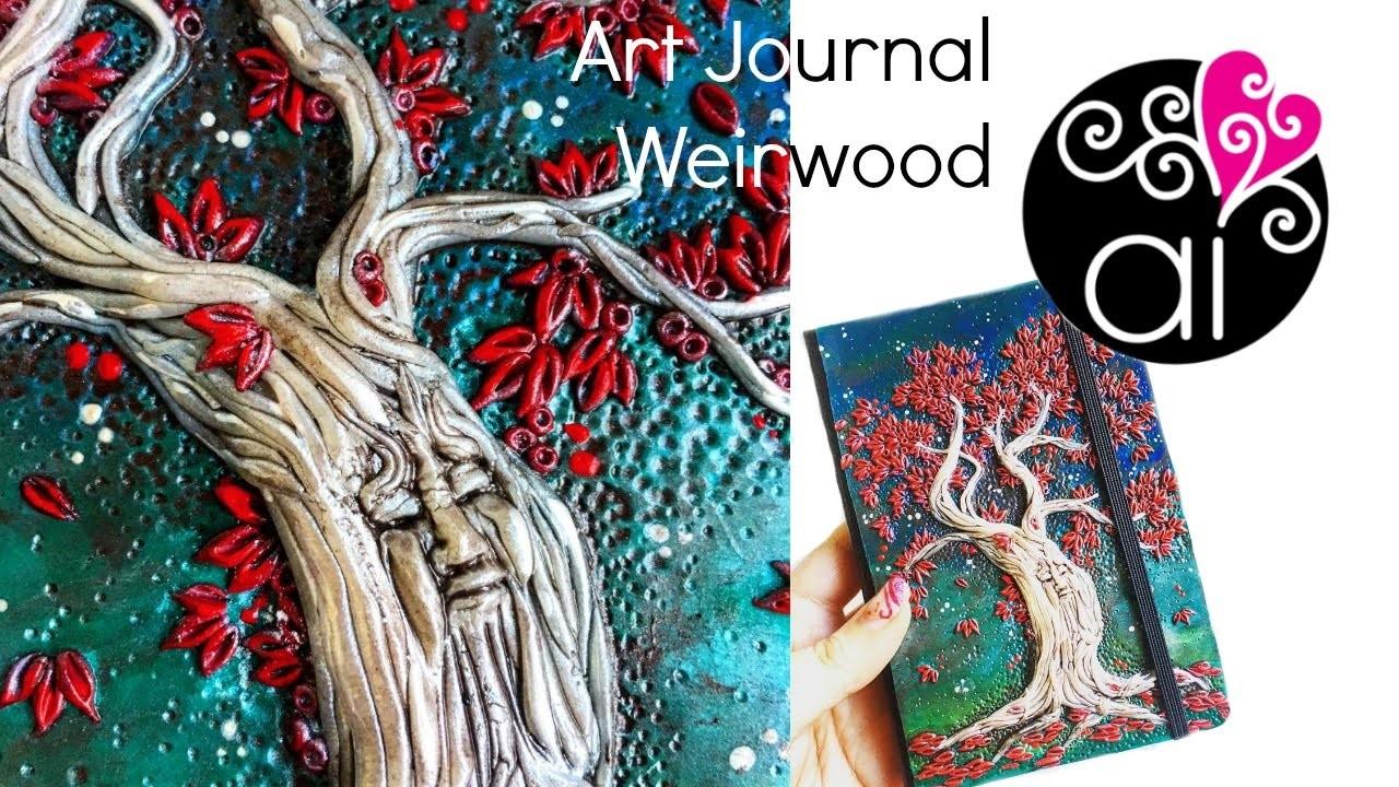 Art Journal Tutorial | Albero del Cuore in Pasta polimerica | Trono di Spade Fan Art