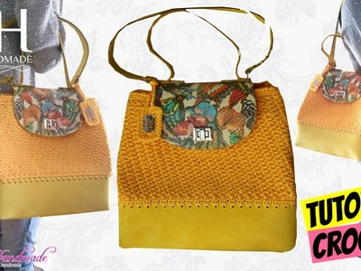 "TUTORIAL BORSA SECCHIELLO ""Queen Butterfly"" UNCINETTO.CROCHET BAG ● Katy Handmade"