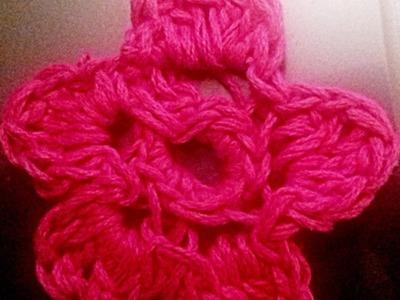 UNCINETTO:  COME FARE FIORE A 5 PETALI 2D - crochetting  flower