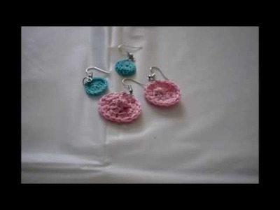 COME FARE ORECCHINI AD UNCINETTO IN 5 MINUTI.crocheted earrings in 5 minutes
