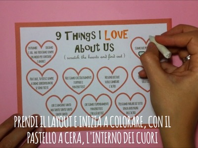 DIY : Scratch off card - San Valentino