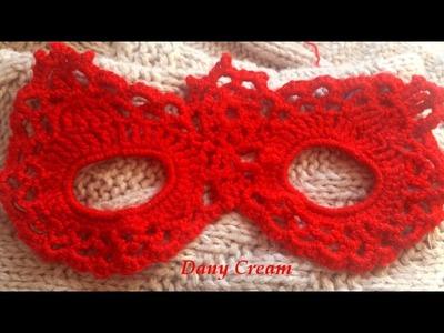 Maschera di Carnevale all'uncinetto passo passo. Parte 1 di 2