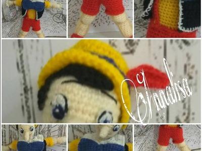 Pinocchio ad uncinetto amigurumi