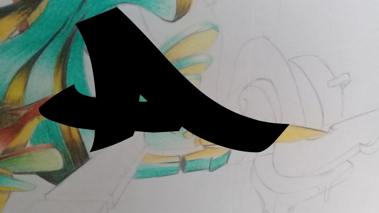 "HOW TO DRAW GRAFFITI LETTER ""A 3D"""
