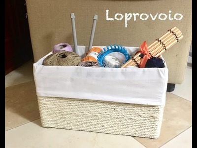 Come fare un cesto porta gomitoli - Yarn Storage Box DIY