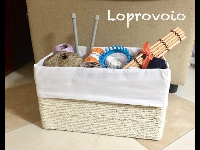 Come fare un cesto porta gomitoli yarn storage box diy - Come fare un porta lettere ...