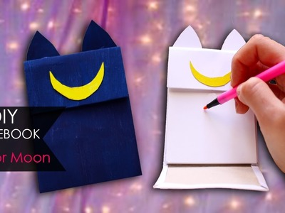 DIY Notebook ???? Sailor Moon | Luna & Artemis
