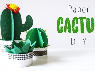 Paper Cactus DIY ???? Spring 2017 Tutorial ????