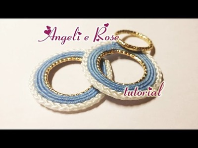 DIY - Cerchi Soutache con anello centrale  - TUTORIAL SOUTACHE - FACILE