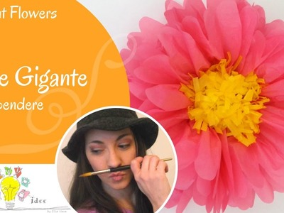 Fiore gigante da appendere - Party Decoration: Giant paper flower - Tutorial DIY di Creaidee