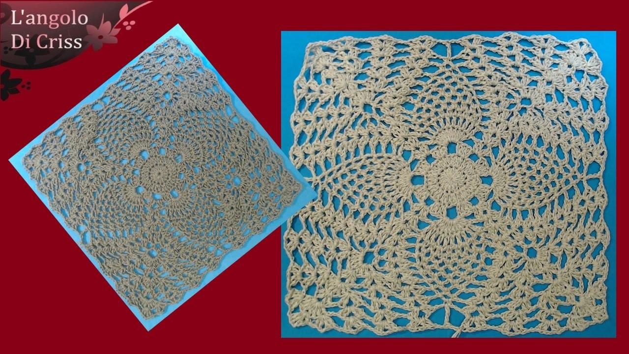 Piastrella Alluncinetto Moresca Crochet Square