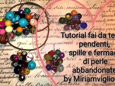 Tutorial fai da te DIY: pendenti, spille e fermagli di perle abbandonate! by Miriamvigliosità