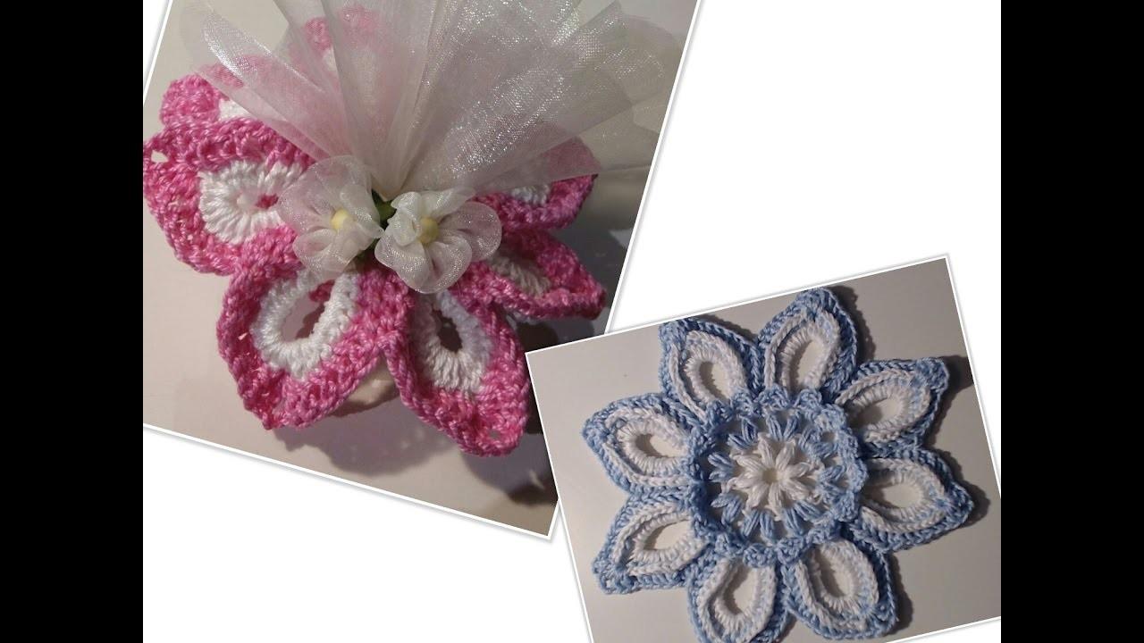 Bomboniera Fiore Alluncinetto Tutorial Crochet