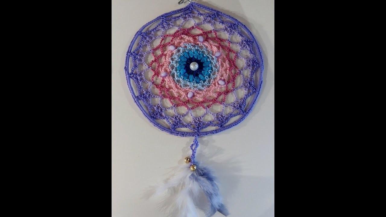 Come Fare Un Acchiappasogni Mandala A Uncinetto Crochet Tutorial