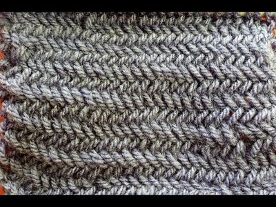 Punto spina di pesce ai ferri - Herringbone knitting stitch tutorial ENsubs